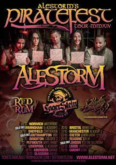 Alestorm UK Tour 2014