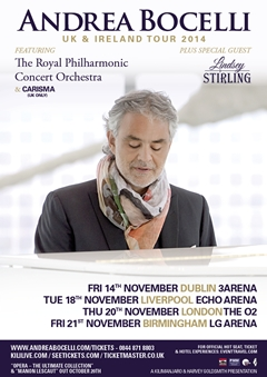 Andrea Bocelli UK Tour 2014