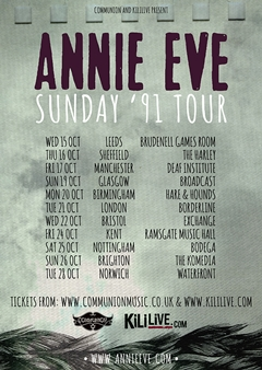 Annie Eve UK Tour 2014