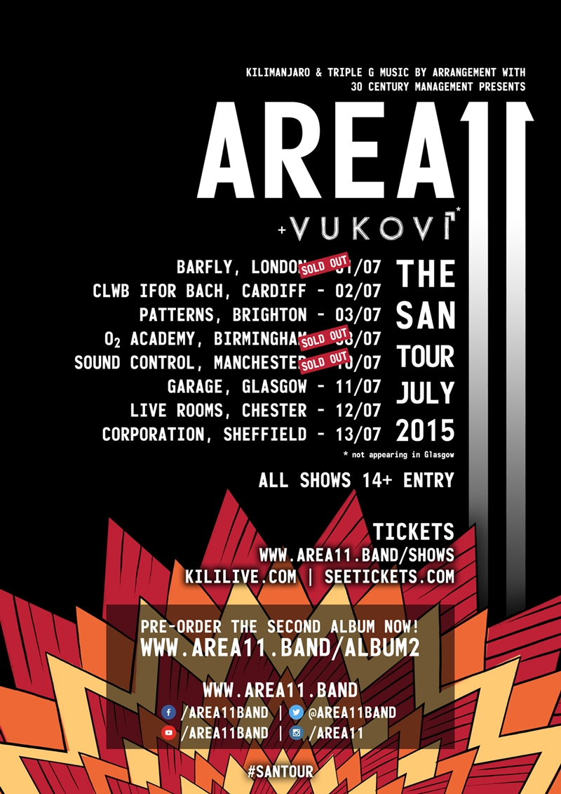 Area 11 UK Tour 2015