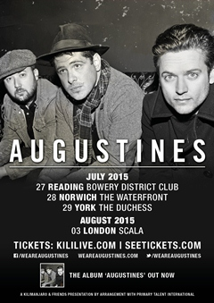 Augustines UK Tour 2015