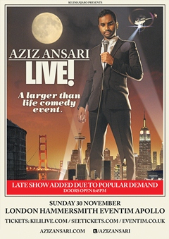 Aziz Ansari UK Tour 2014