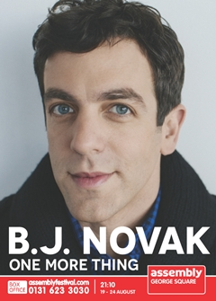BJ Novak 'One More Thing'