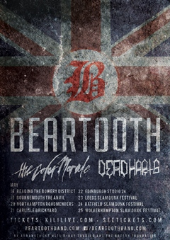 Beartooth UK Tour 2015