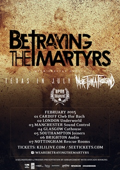 Betraying The Martyrs UK Tour 2015