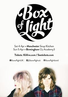 Box Of Light UK Tour 2015