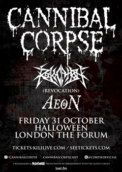 Cannibal Corpse UK Tour 2014