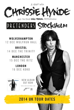 Chrissie Hynde UK Tour 2014