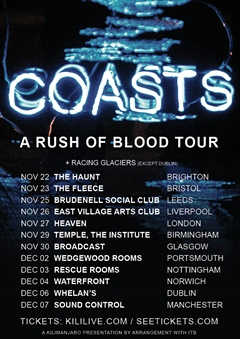 Coasts UK Tour 2014