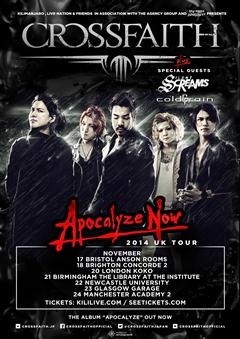 Crossfaith UK Tour 2014