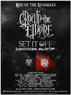 Crown The Empire UK Tour 2015