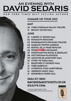 David Sedaris UK Tour 2015