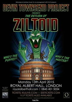 Devin Townsend Project 'The Return of Ziltoid' UK London Tour 2015