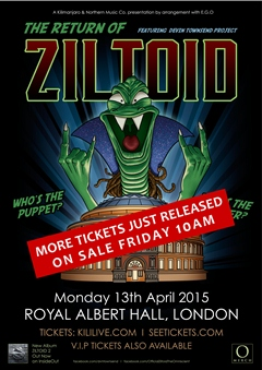 Devin Townsend Project presents the Return of Ziltoid UK London 2015