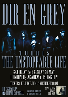Dir En Grey UK Tour 2015 London