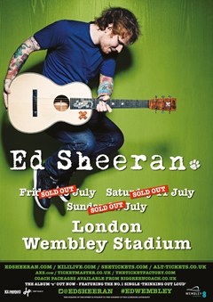 Ed Sheeran UK Tour 2015