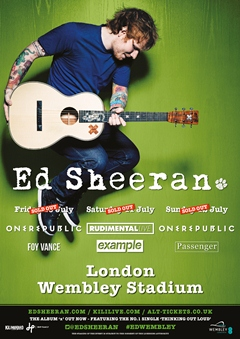 Ed Sheeran UK Tour 2015 London Wembley Stadium