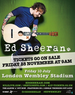Ed Sheeran UK London Wembley 2015