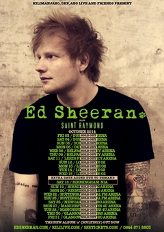 Ed Sheeran UK Tour 2014