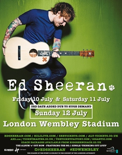 Ed Sheeran UK Wembley London 2015