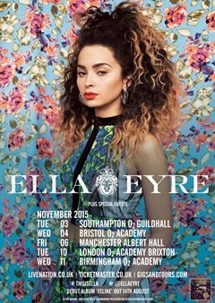 Ella Eyre UK Tour 2015