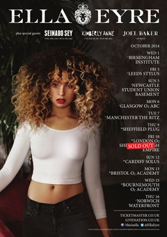 Ella Eyre UK Tour 2014