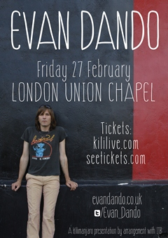 Evan Dando UK London Tour 2015
