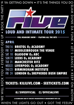 Five UK Tour 2015