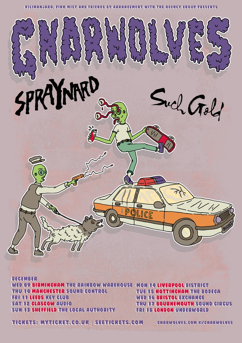 Gnarwolves UK Tour 2015