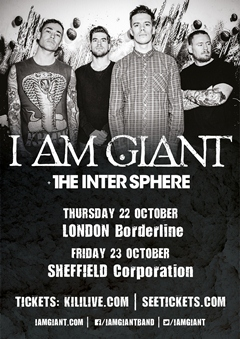 I Am Giant UK Tour 2015
