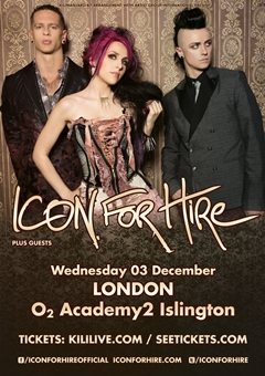Icon For Hire UK Tour 2014