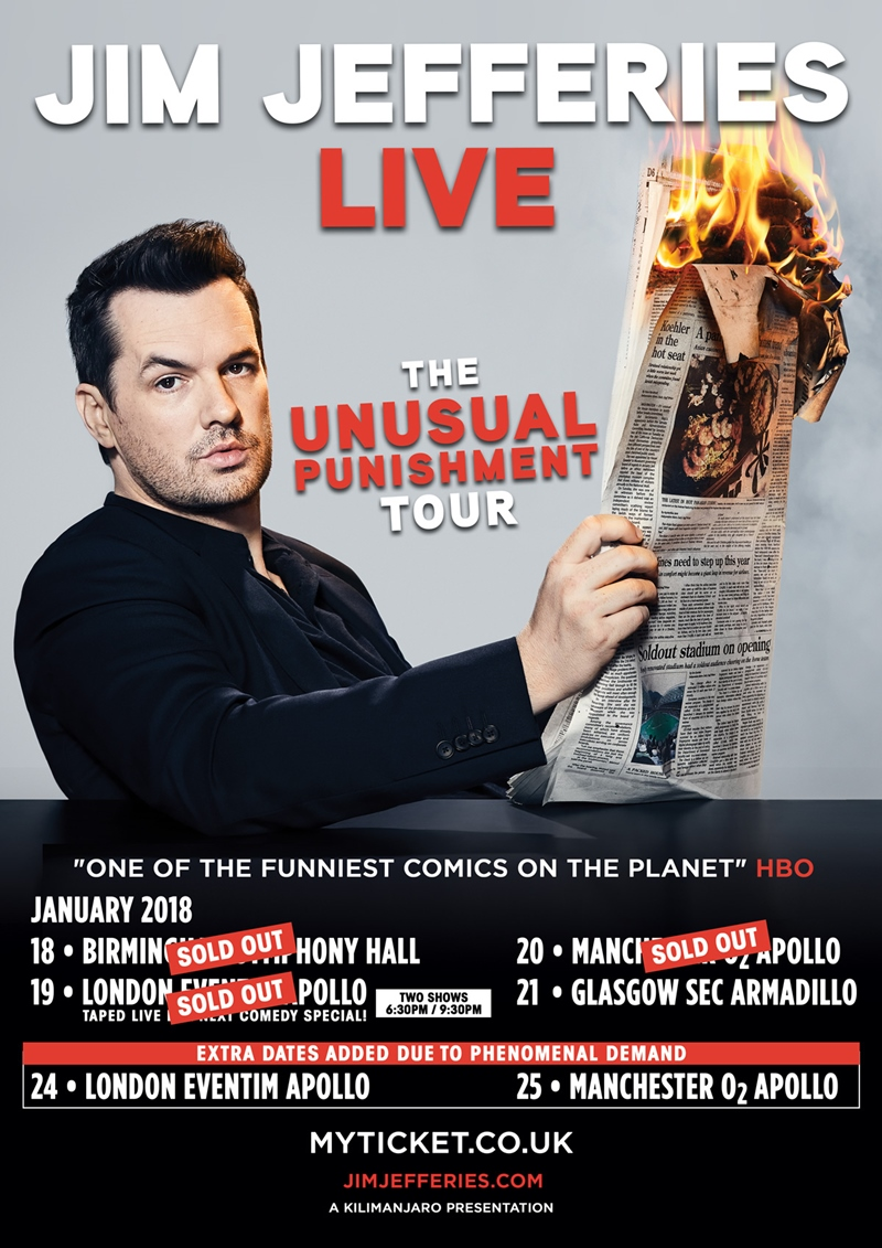 Jim Jefferies UK Tour 2018