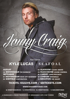 Jonny Craig UK Tour 2015