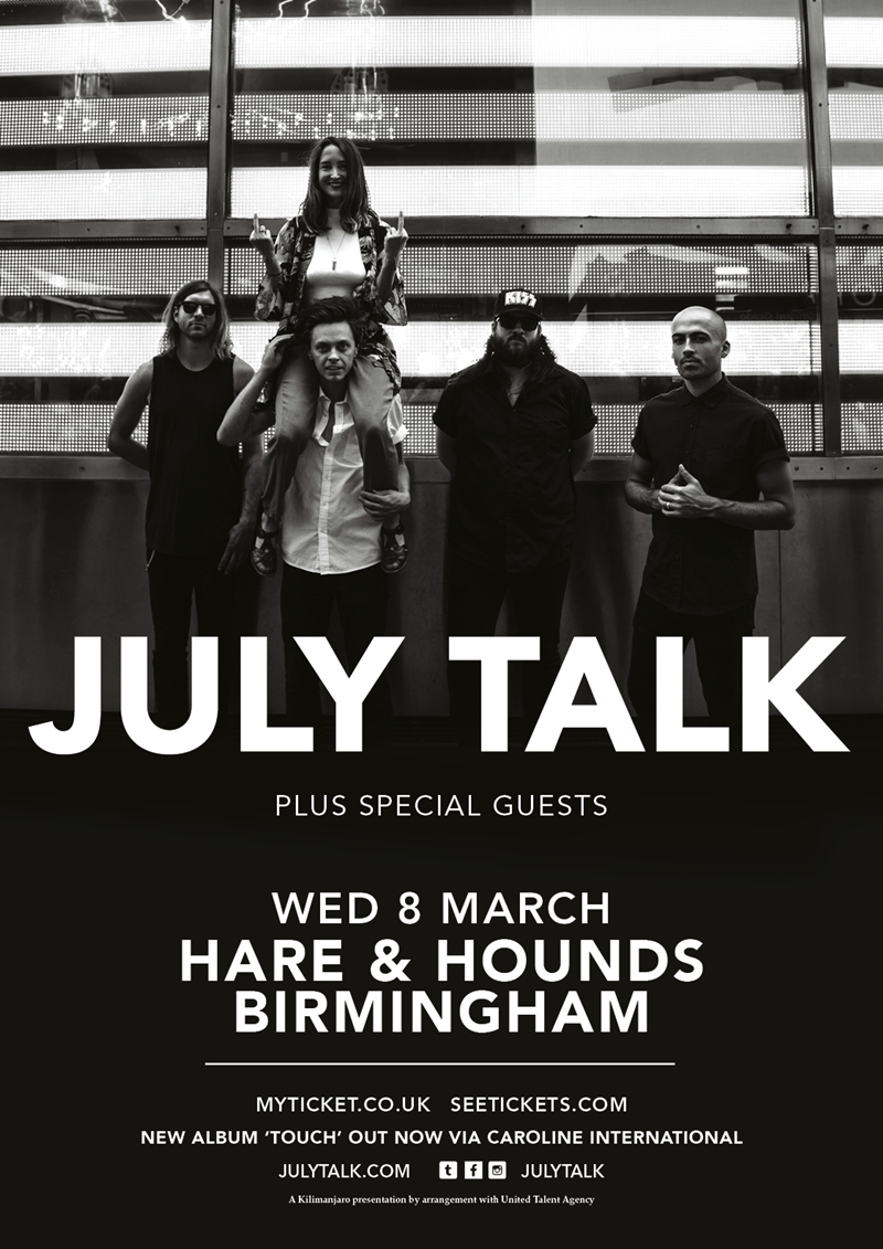 July Talk Birmingham 2017 UK show