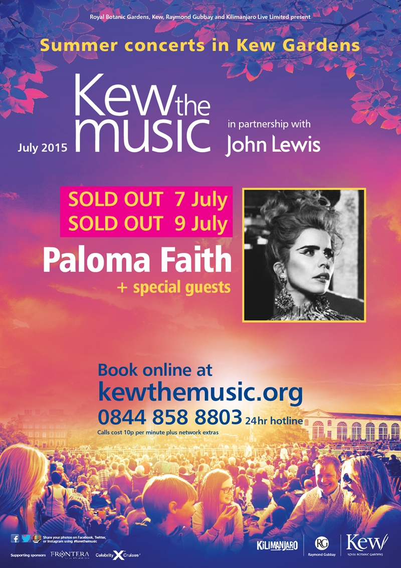 Kew the Music Paloma Faith UK 2015 London