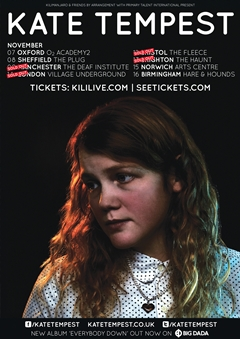 Kate Tempest UK Tour 2014