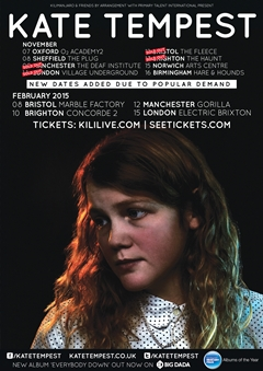 Kate Tempest UK Tour 2015