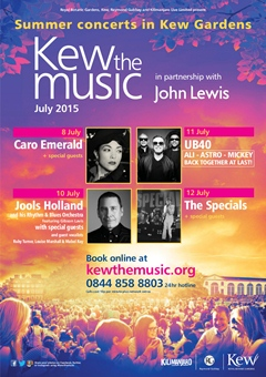 Kew The Music at Kew Gardens London 2015