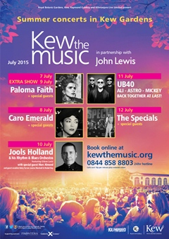 UB40 - Ali, Astro and Mickey performing at Kew the Music London 2015