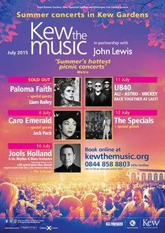 Kew The Music UK Tour 2015 London