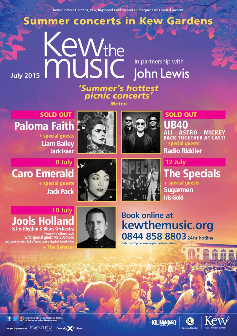 Kew the Music Summer Concerts UK London 2015