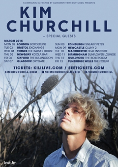 Kim Churchill UK Tour 2015