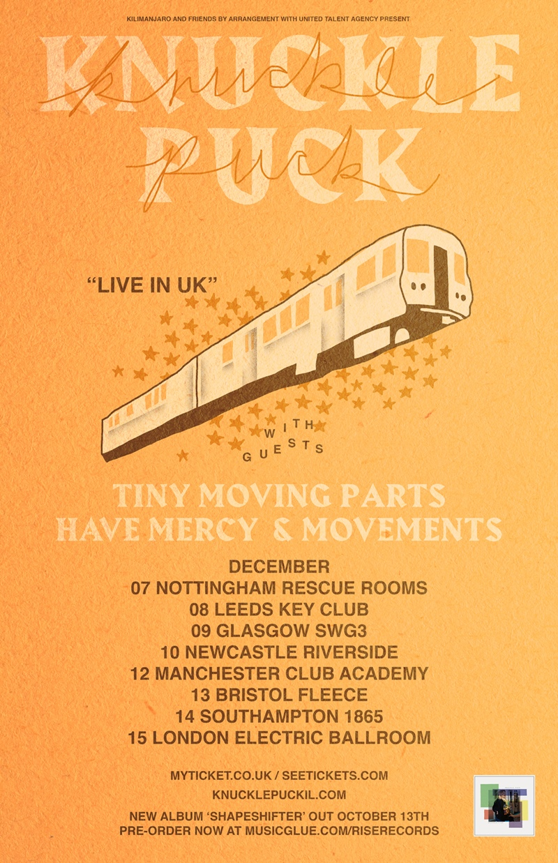 Knuckle Puck 2017 UK Tour