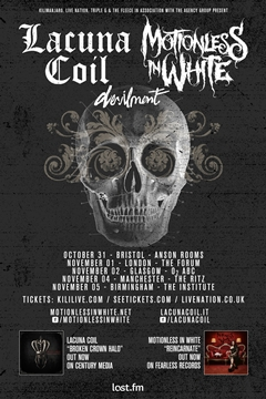 Lacuna Coil + Motionless In White UK Tour 2014