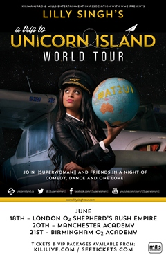 Lilly Singh Superwoman A Trip to Unicorn Island World Tour 2015