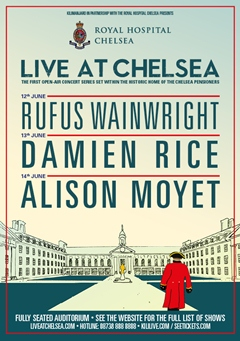 Live At Chelsea UK London 2015 Alison Moyet Damien Rice Rufus Wainwright
