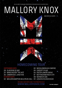 Mallory Knox UK Tour 2015