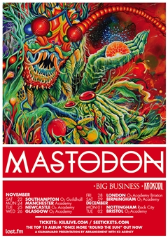 Mastodon UK Tour 2014