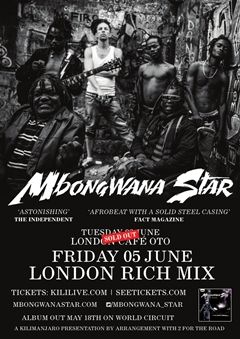 Mbongwana Star UK Tour 2015 London