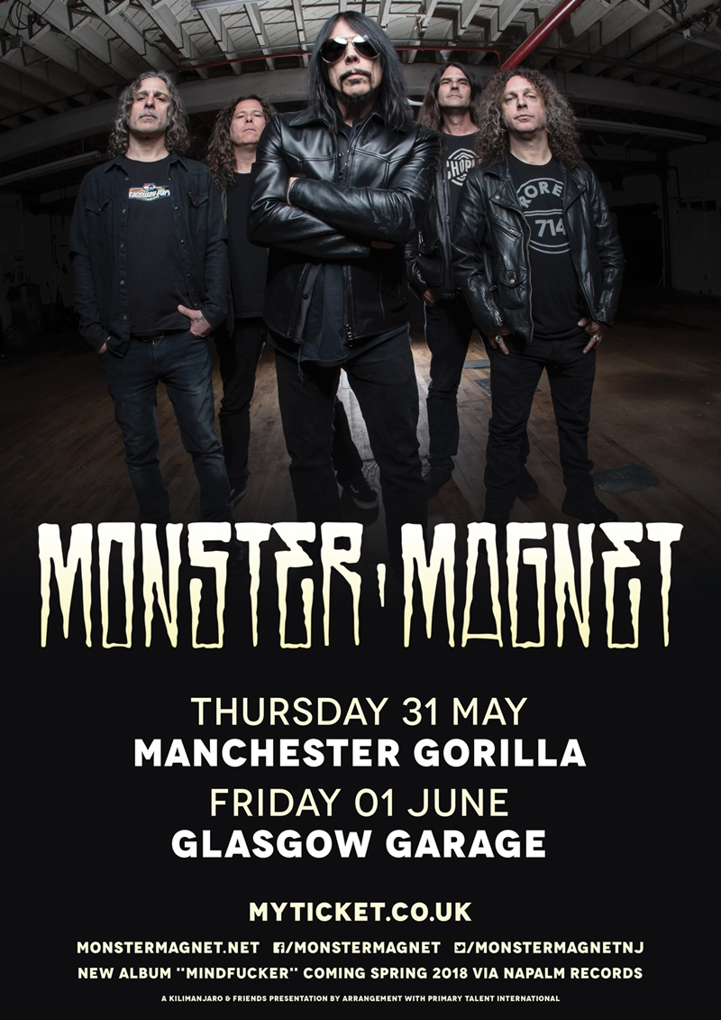 Monster Magnet UK Tour 2018